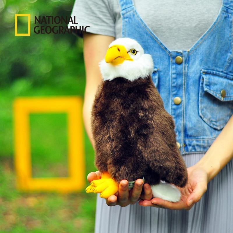 National Geographic Original Bird Eagle Hawk Simulation Animals Stuff Plush Toy Children Birthday Gift Home Decoration