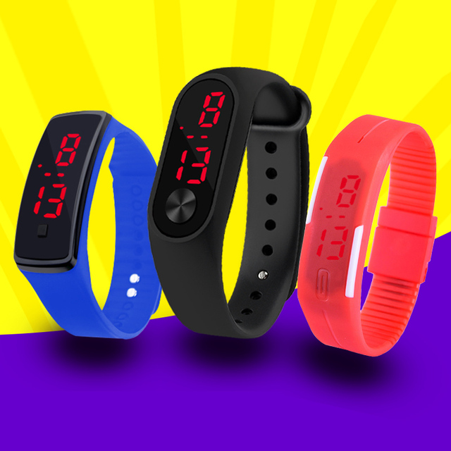 Fashion Men Led Digital Watch Women Casual Yoga Silicone Sports Wristwatch Children Kids Watches Outdoor Bracelet Watches Clock 1