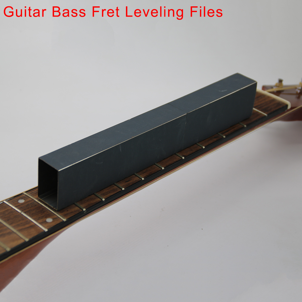Guitar Bass Fret Leveling Files With Three Sides Self-adhesive Sandpaper Local Sanding Leveler Tool  250*38*25mm