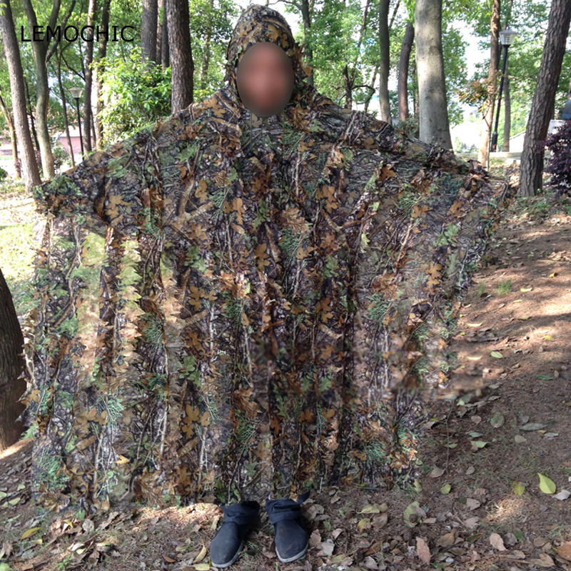 LEMOCHIC wader paintball tactique airsoft chasse observation d'oiseaux tropique bois sniper tactique camouflage ghillie costume