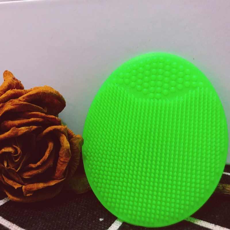 صغيرة لينة سيليكون فرشاة تنظيف الوجه العناية بالوجه غسل التقشير فرشاة البثرة مزيل الجلد سبا لوحة فرك جهاز تدليك
