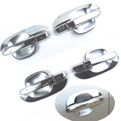 Accessories Chrome Door Handle Base Bowl Covers For 2005-2009 Hyundai Tucson