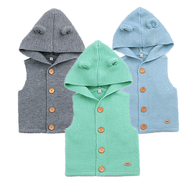 73276e136 Wool Baby Vest Spring Baby Boy Clothes Cute Baby Girl Sweater 2018 ...