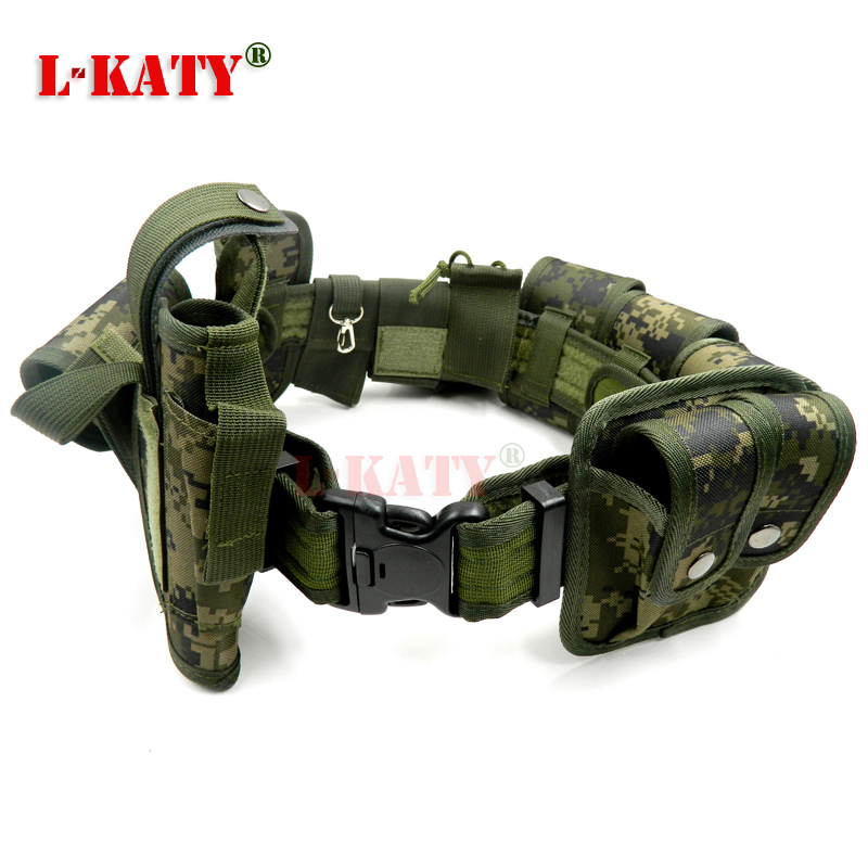 Woodland Tactical Belts Multifunctional Security Belt Training Polices Guard Utility Heavy Duty Combat Belts 10pcs/set ZS10T04
