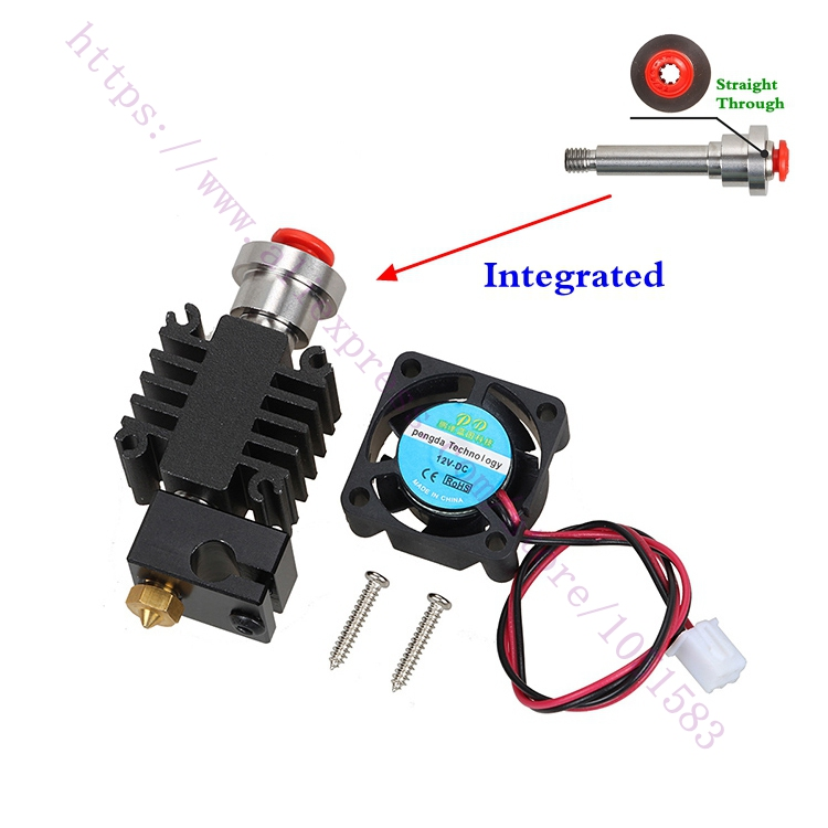 3D Printer Parts Integrated Heatbreak V6 hotend Bowden Extruder Hotend Kit 1.75mm Long-distance Feed V6 Hot End Kit 2017 hot universal racing cold feed induction kit