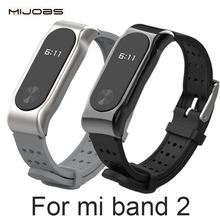 Xiaomi Mi Band 2 pasek bransolety Miband 2 opaska sportowa metal pasek na rękę wymiana Smart Band akcesoria dla mi Band 2 tanie tanio Passometer Z MIJOBS Dorosłych Wszystkie kompatybilne Angielski Geniune strapery