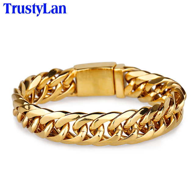 mlthco bracelet gold black with jewelry golden anchor leather products nialaya s men mens