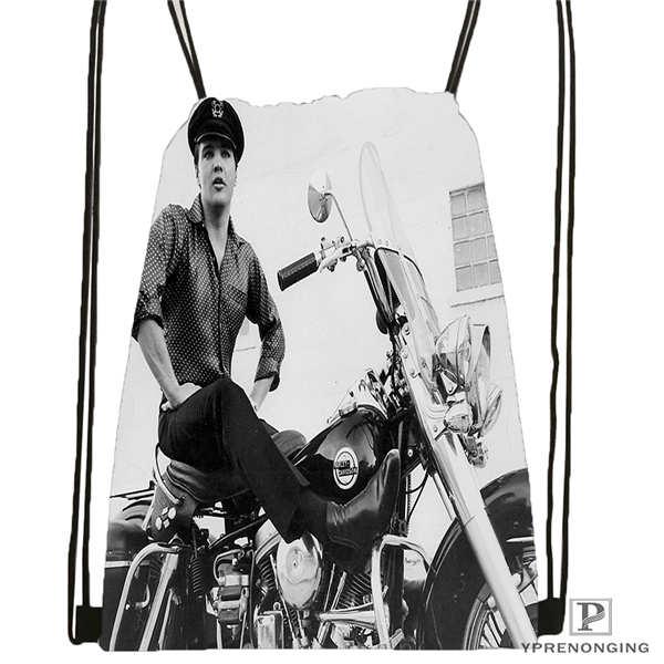 Custom Gty_elvis_presley Drawstring Backpack Bag Cute Daypack Kids Satchel (Black Back) 31x40cm#2018612-01-22