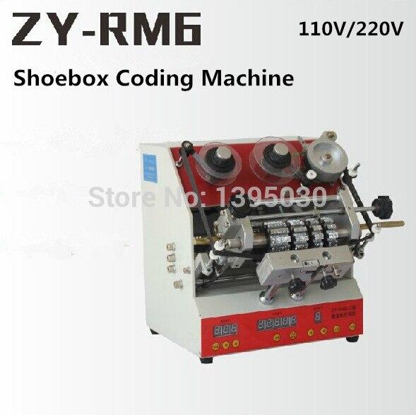 ZY-RM6 półautomatyczne pudełko na buty maszyna do kodowania pedał drukarka kodów literze kodu naciśnij drukarki brajlowskiej karty