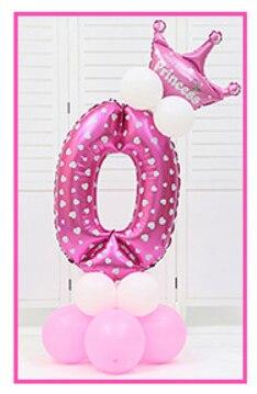 16 шт./упак. розового и голубого цвета для детей 0-9 цифры Большие Гелиевые номер Фольга детей фестивалей Dekoration День рождения шляпа игрушки для детей - Цвет: pink 0