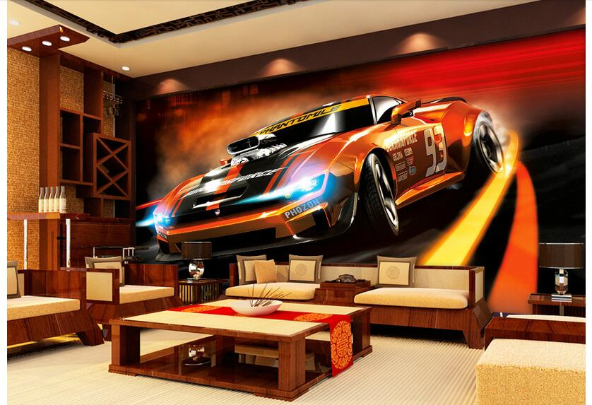 3d room wallpaper custom photo non-woven mural picture wall sticker The dynamic sports car painting wallpaper for walls 3d 3d room wallpaper custom mural non woven wall sticker 3 d fantasy green vine of roses painting photo wallpaper for walls 3d