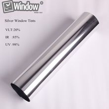 50cm x150cm Solar window Tints Reflective silver sticker one way mirror window film privacy security