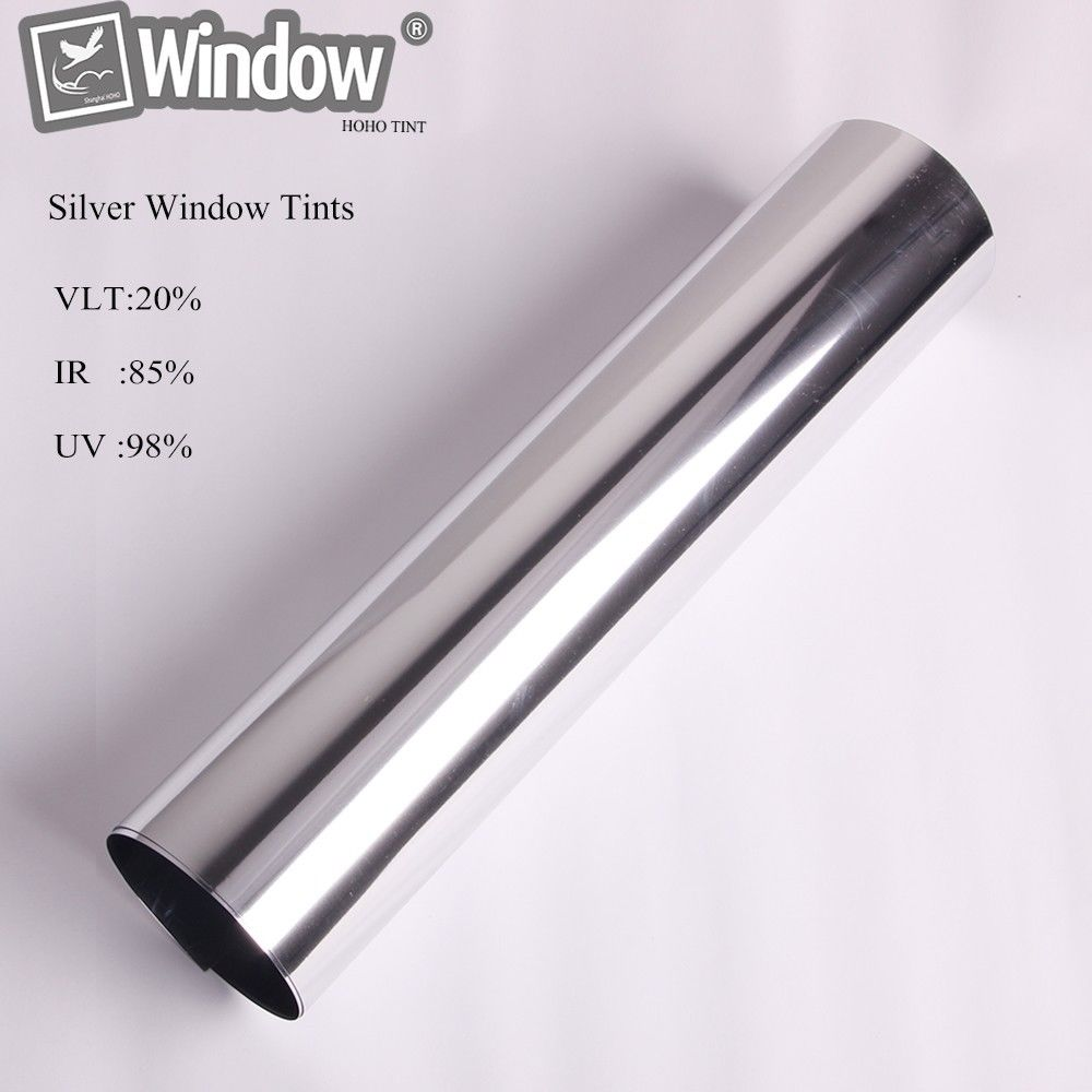 50cm x100cm Solar window Tints Reflective silver sticker one way mirror window film privacy security