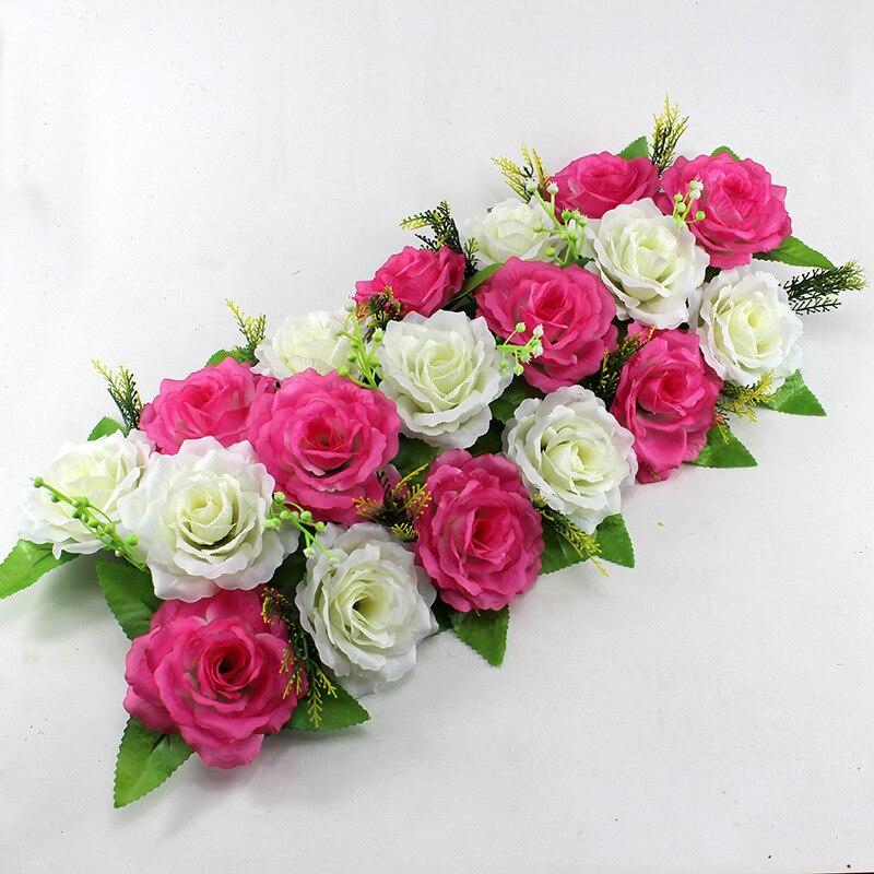 Compra arco de la boda flores online al por mayor de china - Decoracion flores artificiales ...