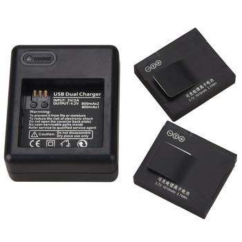 2 шт. AZ13-1 батарея для Xiaomi yi 1010 мАч батарея + USB зарядное устройство для экшн-камеры Xiaomi Yi запасная батарея