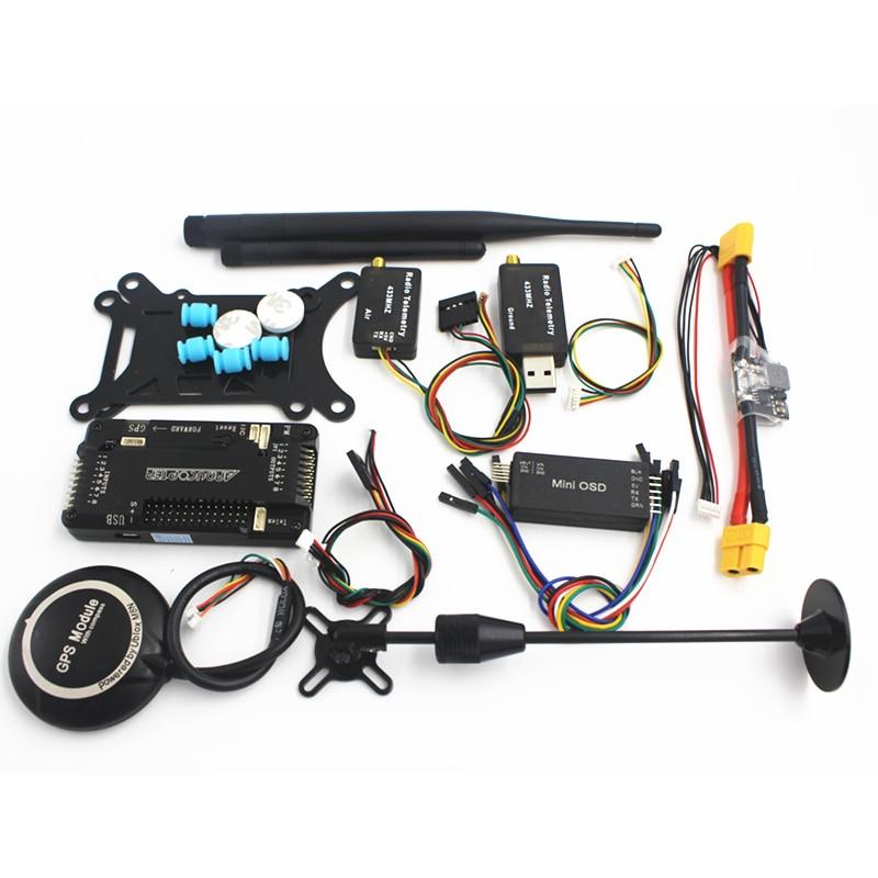 APM 2.8 Controllore di Volo + NEO M8N 8N GPS Bussola con il Potere Moudle + Mini OSD 915/433 di Telemetria kit