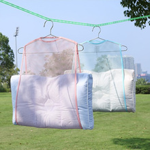 Balcony Windproof Frame Fixed Pillow Multifunctional Toys Drying Rack Racks Hanging Net Home Container