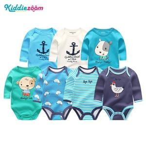 Image 2 - 7 adet/takım yenidoğan bebek kız giysileri uzun kollu erkek tulum giyim Recien bebek pijama pamuk roupas de bebe bebek Onesies