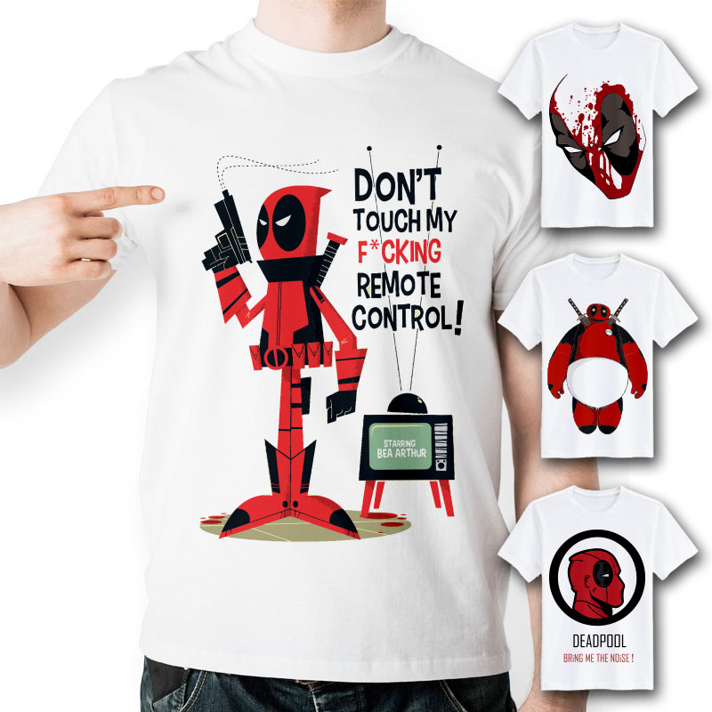 aliexpresscom buy deadpool t shirt creative design exclusive cool fashion dead pool t shirt funny anime tee pattern o neck tshirt for men women from