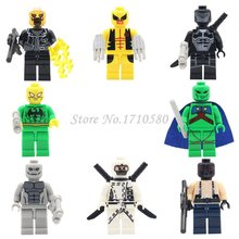 Super Heroes Figures Single Sale Bane White Ghost Bain Mars Hunter Deadpool Building Blocks Sets Models DIY Brick  Toy
