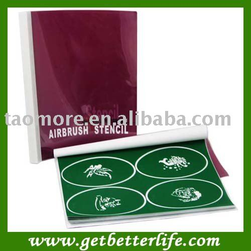 ФОТО Temporary  Airbrush Tattoo Stencil Template Book 2 with 100 designs free shipping