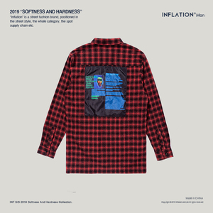 Image 5 - INFLATION Oversized Check Long Sleeve Casual Shirt 2020 Autumn & Winter Fashion Hip Hop Men Plaid Flannel Check Shirt 8713W