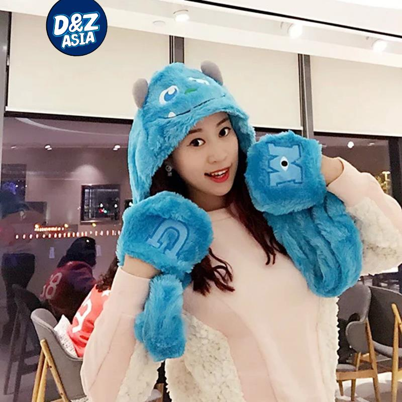 Monster University Popeyes wool scarves hats gloves cartoon monster triple birthday gift