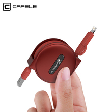 Cafele 2in1 Retractable 1.5m Micro USB Cable and IOS 8Pin Cable for Android Micro USB and for iPhone 8Pin Port