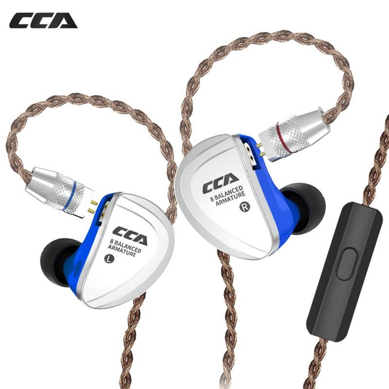 CCA C16 8BA Drive Units In Ear Earphone Wired Headset 8 Balanced Armature Sport Headphone With Microphone Detachable 2PIN CableCCA C16 8BA Drive Units In Ear Earphone Wired Headset 8 Balanced Armature Sport Headphone With Microphone Detachable 2PIN Cable