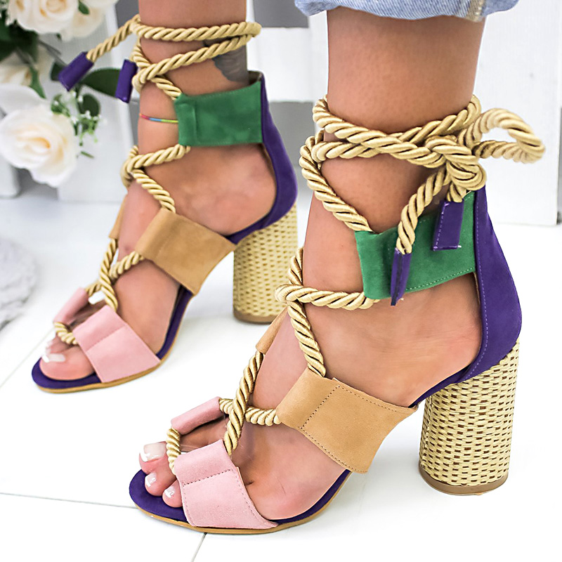 Summer Wedge Espadrilles Women Sandals high Heel Pointed Fish Mouth Sandals Woman Hemp Lace Up 7cm Women Platform SandalsSummer Wedge Espadrilles Women Sandals high Heel Pointed Fish Mouth Sandals Woman Hemp Lace Up 7cm Women Platform Sandals