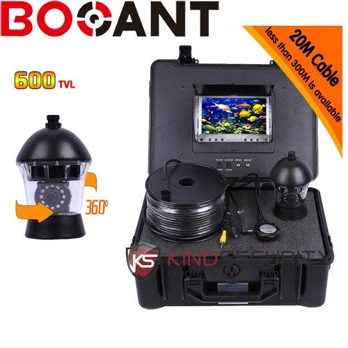 20m cable Underwater submarine camera 360 degree camera underwater PTZ camera CR110-7C with 7 TFT monitor цена