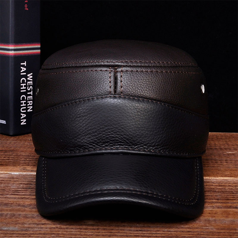 48e228215f3 Detail Feedback Questions about HL088 Men s genuine leather baseball caps  New brand new winter warm Russian real leather caps on Aliexpress.com