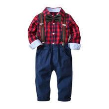 b66bf2596 Ropa de bebé niño Caballero pantalones de camisa infantil traje formal  traje de boda ropa cumpleaños usar 2 colores