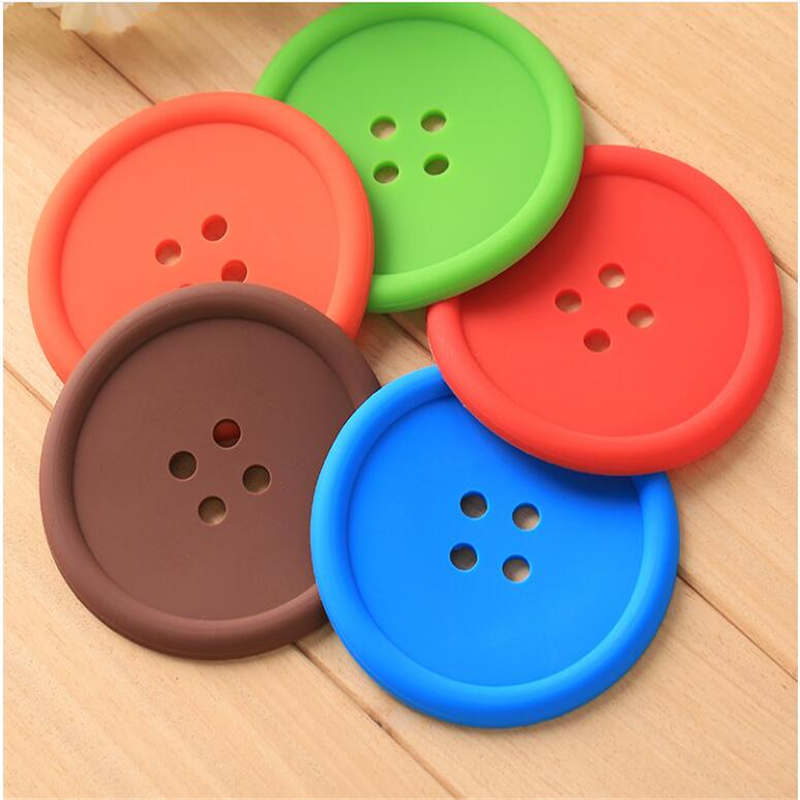 Creative-Household-Supplies-Round-Silicone-Cup-Mat-Colorful-Button-Cup-Coasters-Cup-Cushion-Holder-Drink-Pads