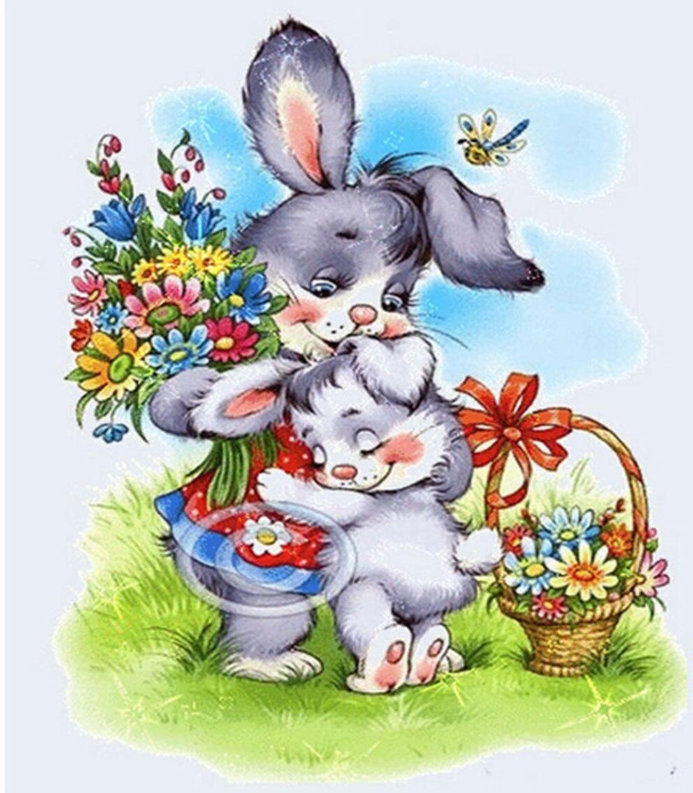 Картинки для детей зайчиков и дружбе, медаль отличную