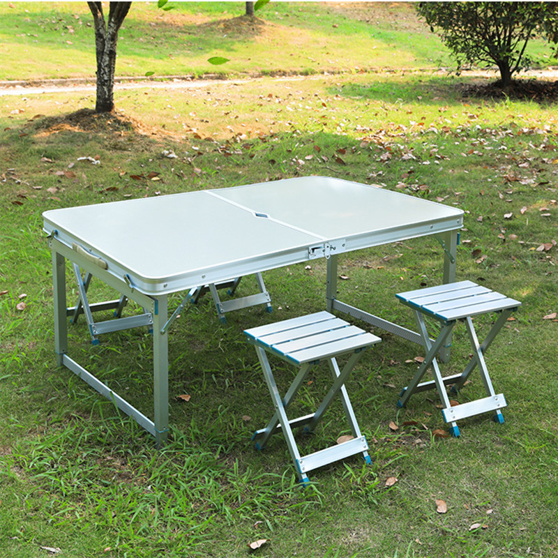Incredible Us 48 0 Outdoor Folding Table Garden Aluminum Alloy Table Chair Set Portable Camping Picnic Furniture In Garden Sets From Furniture On Evergreenethics Interior Chair Design Evergreenethicsorg