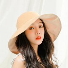 SUOGRY Fashion Women Summer Hat Breathable Cotton Solid Wide Brim Sun Hat Packable Flat Top Bucket Hat Lady Anti UV Fishing Hats все цены