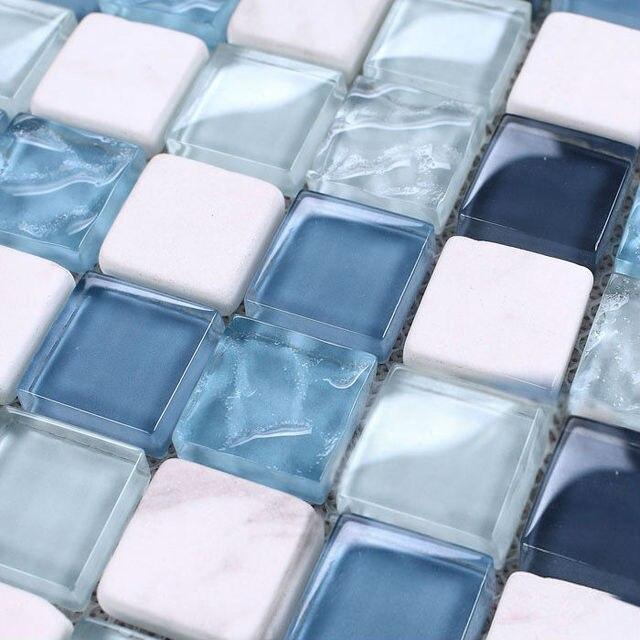 Glass tile mirror italian wall tile kitchen backsplash discount ...