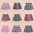 Venda quente de verão moda feminina vento Campus Kawaii malha Uma Linha saia de cintura alta Plissada Grande tamanho XS-4xL