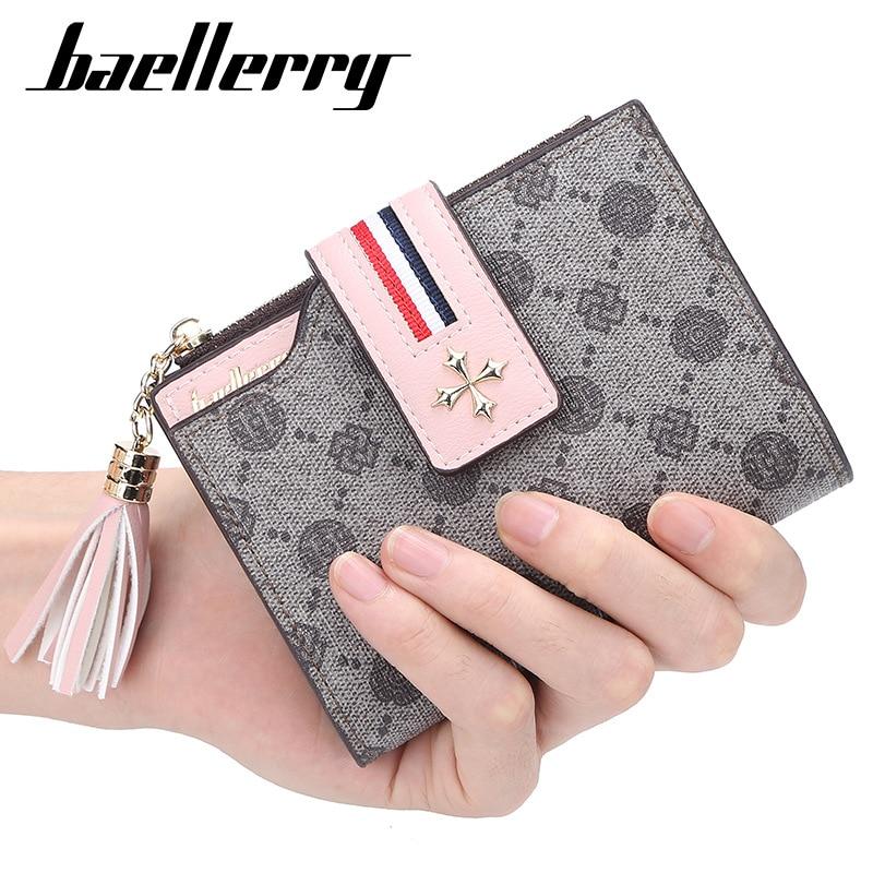 2020 Baellerry Fashion Women Short Design Female Wallet Zipper High Quality Card Holder Beautiful Floral Female Purse Portomonee