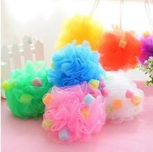 5pcs/lot Color bath ball large sponge bath flower bath accessories nylon