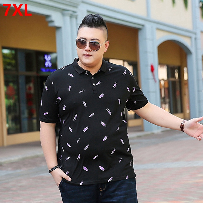 Summer Short Sleeve <font><b>Polo</b></font> <font><b>Men's</b></font> Plus Fatening Plus <font><b>Size</b></font> Loose Trend <font><b>big</b></font> <font><b>Men's</b></font> Half Sleeve Lapel <font><b>Polo</b></font> <font><b>Shirts</b></font> image