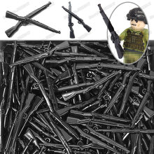 Lot Blocks Weapons Military Black Rifle Germany 98k ww2 Figures Army System Gun soldier Moc Compatible Other Building Blocks Toy(China)