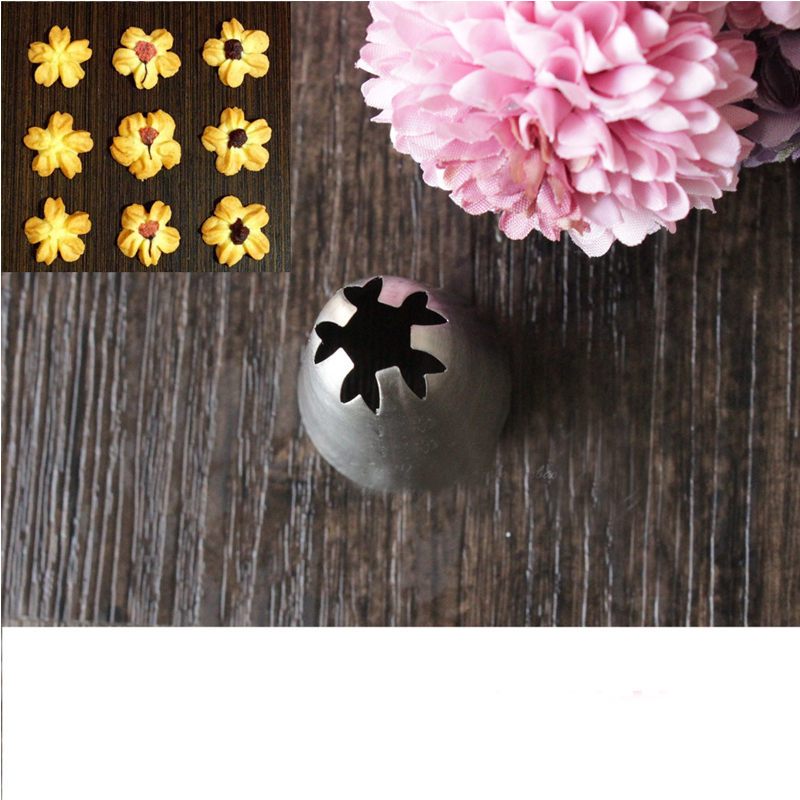1f Large Size Cherry Blossoms Cake Decorating Tips Seamless Drop Flowers Cream Pastry Nozzles Cupcake