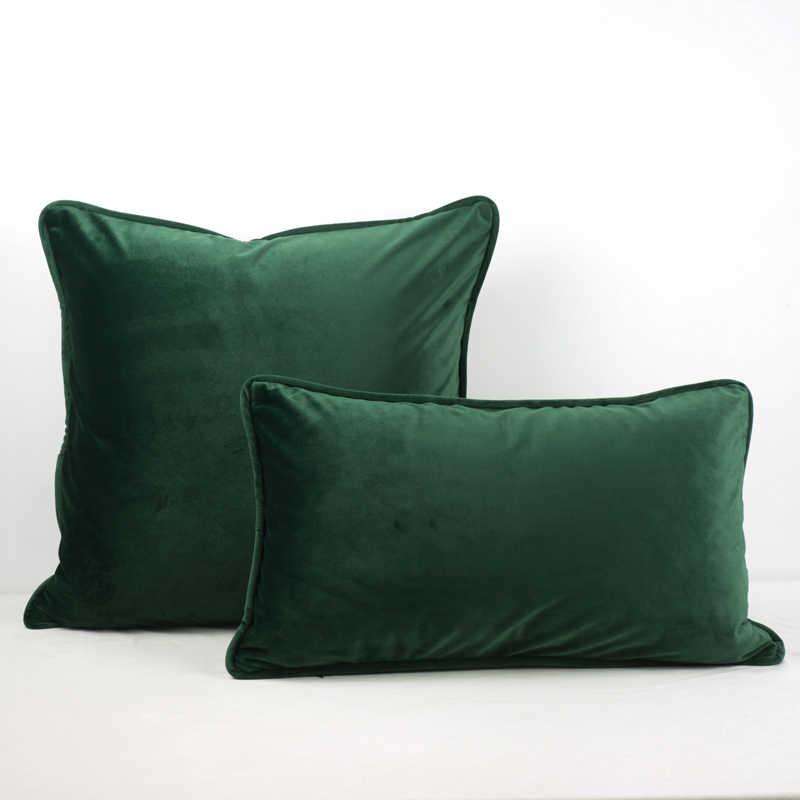 Cuscini Velluto.Di Alta Qualita Verde Nero Piping Design Velluto Fodere Per