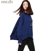 Women Shawl 2017 Fincati Half Turtleneck Casual Fashion Loose Pullover Cashmere Blending Notched Hem Sweaters Jersey