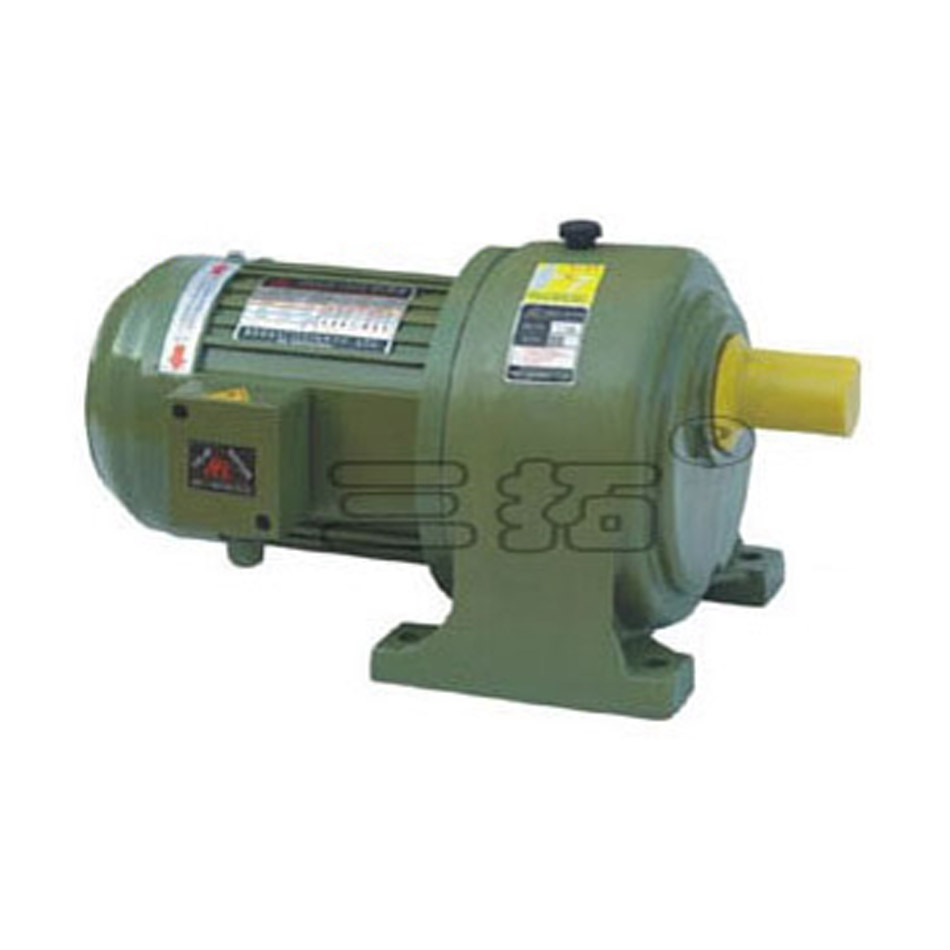 0.1kW AC 220V 380V <font><b>3</b></font>-phases Medium geared <font><b>motor</b></font> Low speed Large torque Horizontal installing for Industrial Stir Mixing Lifting image