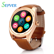 Round Metal K89 Smart Watch Heart Rate Monitor Bluetooth 4 0 Smartwatch for Apple Iphone IOS