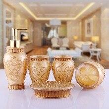 5Pcs Bathroom Accessories European Rome Aristocracy