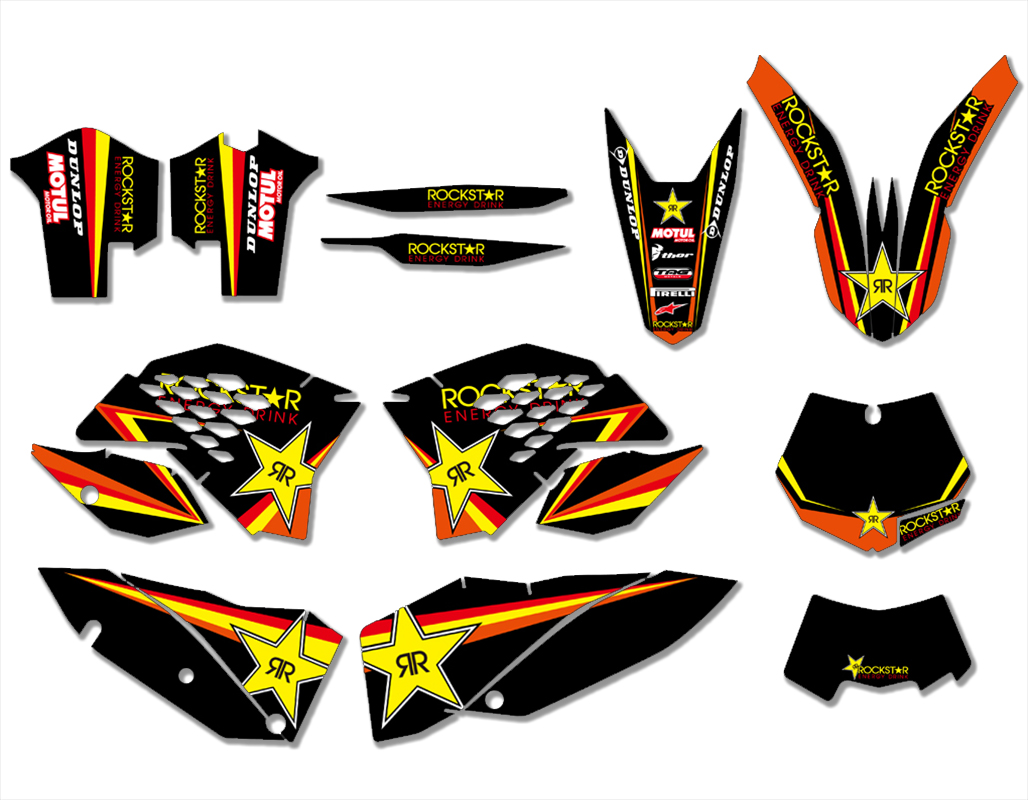 Motorcycle Graphics Decals Sticker For KTM 125 144 150 200 250 300 400 450 505 530 SX SXF XC XCW EXC SMR 2008 2009 2010 2011